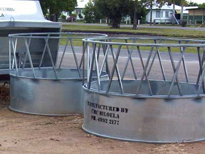 Project - Grain feeders, silos and round bail feeders made by Callide Manufacturing Company Biloela.